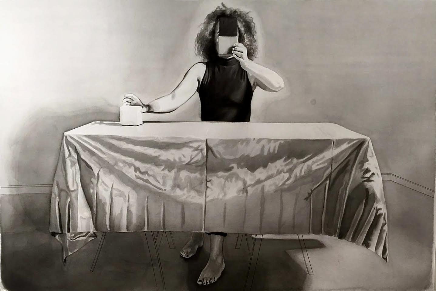 Sónia Carvalho, Making Choices Readymade_B, 2019 Aguarela sobre papel, 106x150cm