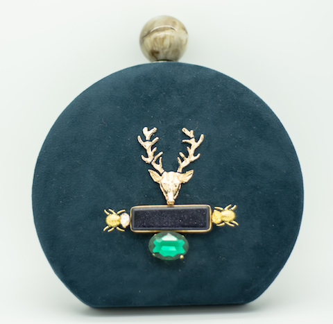 Clutch Blue Deer 98€